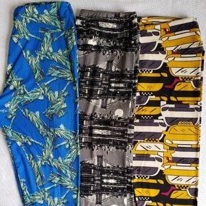 Lularoe NYC pair of 3 Leggings Set